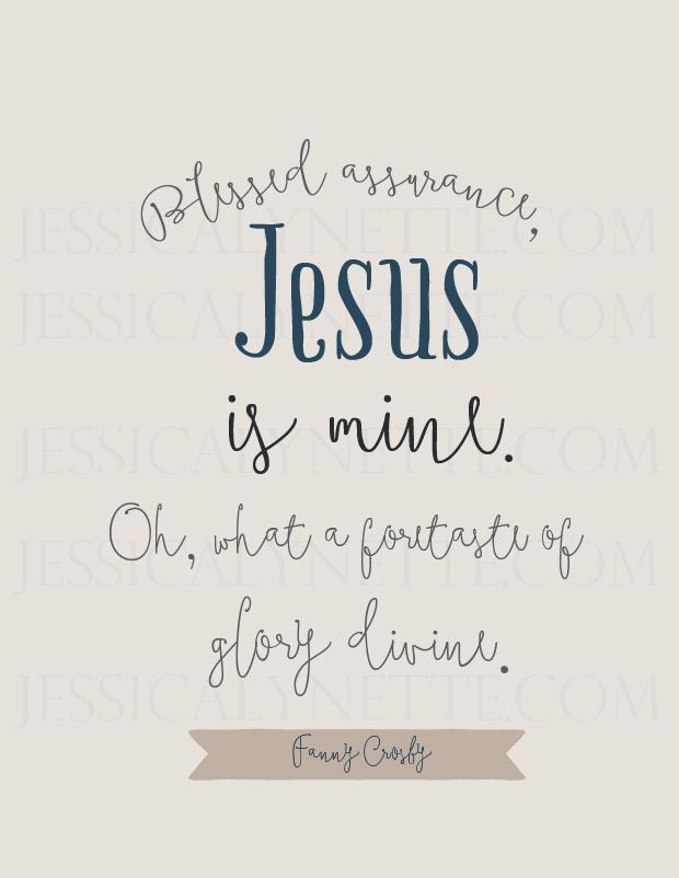 Blessed Assurance, Jesus is Mine - hymn lyrics
