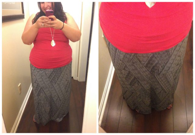 dia and co box review: Liz Claiborne Geometric Print Maxi Skirt, $45 (Gotta love a company that goes the extra mile for women who wear a size 10 and up!)