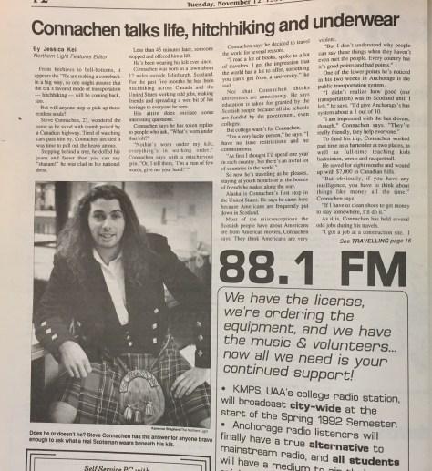 Connachen talks life, hitchiking and underwear 1 of 2