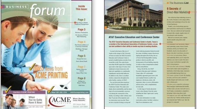 Business Forum Newsletter