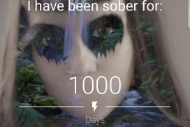 1000 days sober