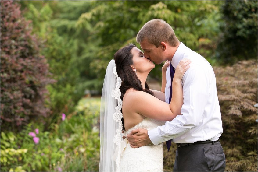 bride and groom candid first look portrait vintage tavern suffolk virginia wedding
