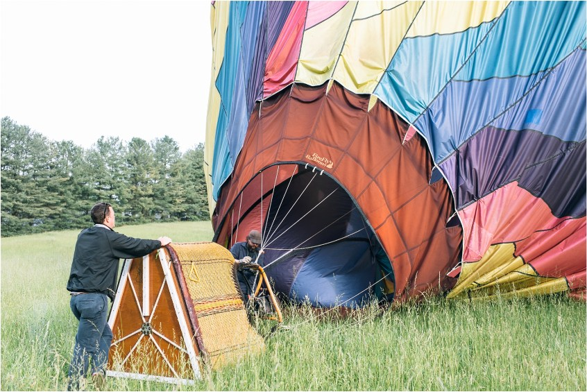 asheville north carolina honeymoon wedding photographer balloons over asheville hot air balloon ride