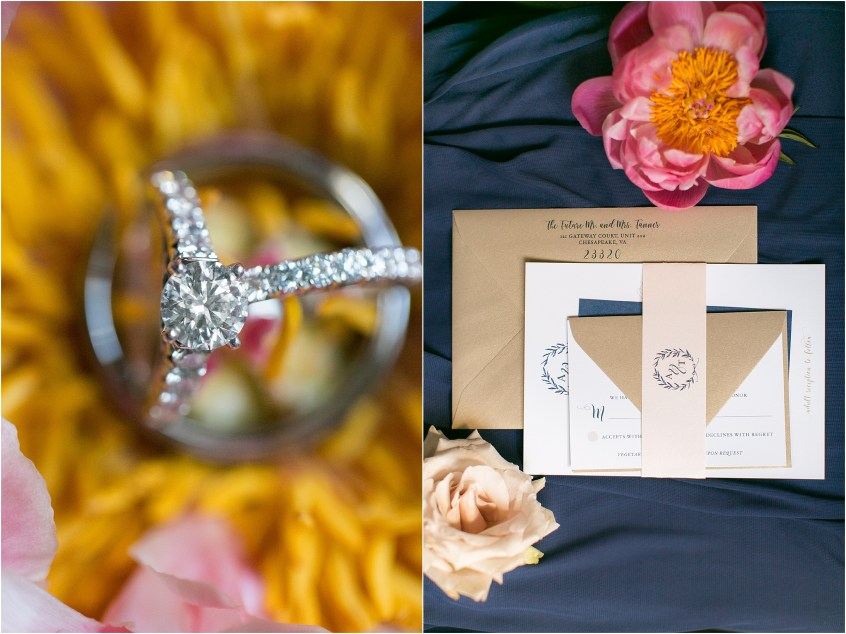 The Mrs Box wedding ring Chrysler Museum of Art Wedding Photography bridal details Paperdolls Design