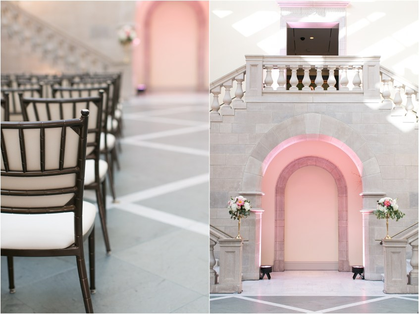 Chrysler Museum of Art grand elegant and classic wedding ceremony