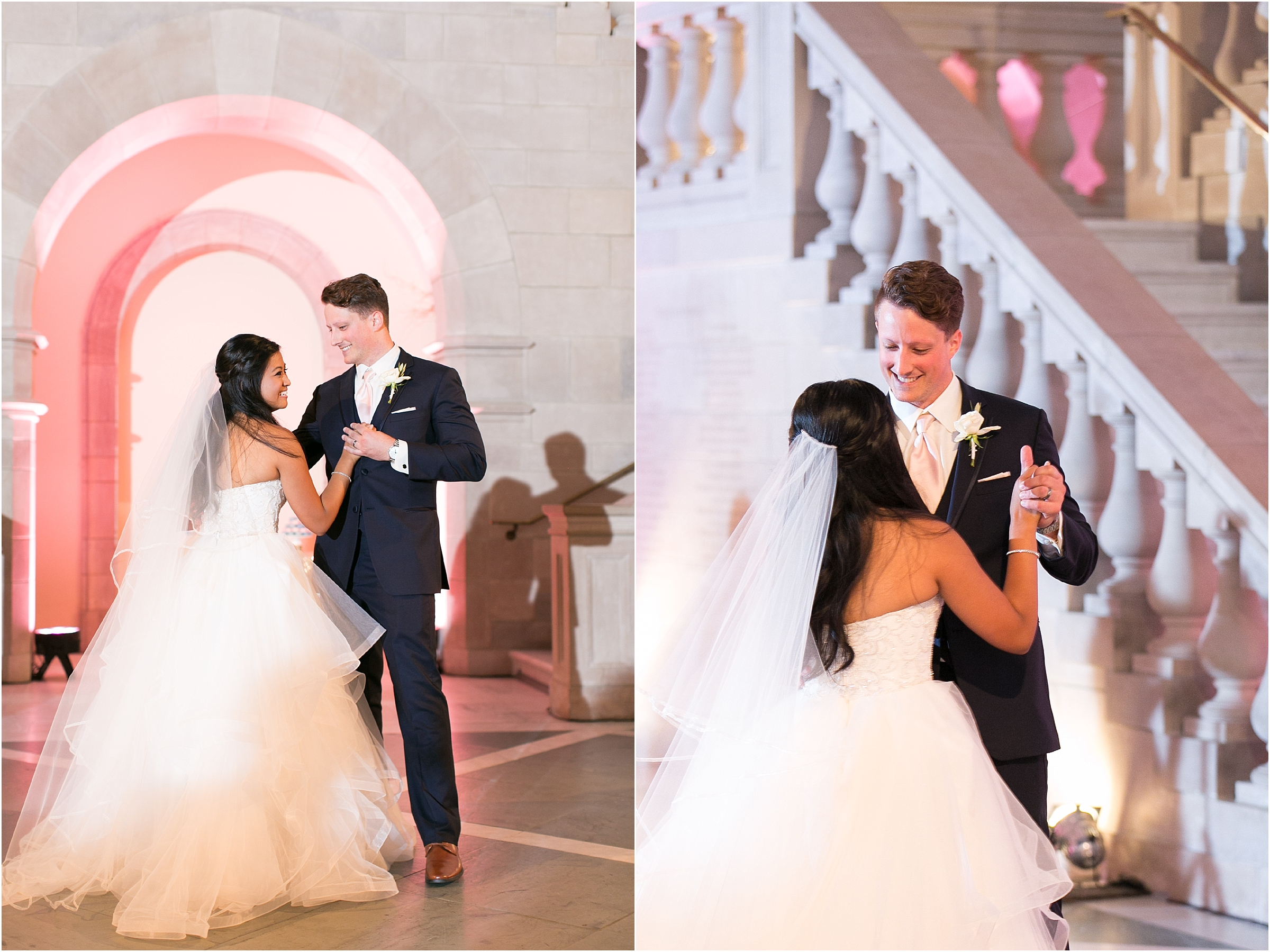 Chrysler Museum of Art elegant wedding reception jessica ryan photography