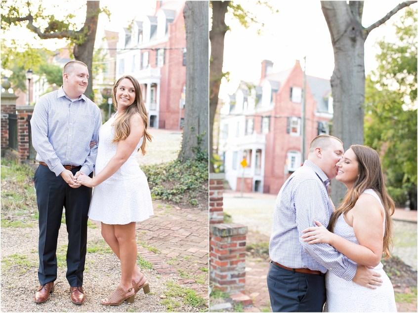 Norfolk Engagement Bride and Groom Freemason District Downtown Norfolk Engagement Photography Virginia
