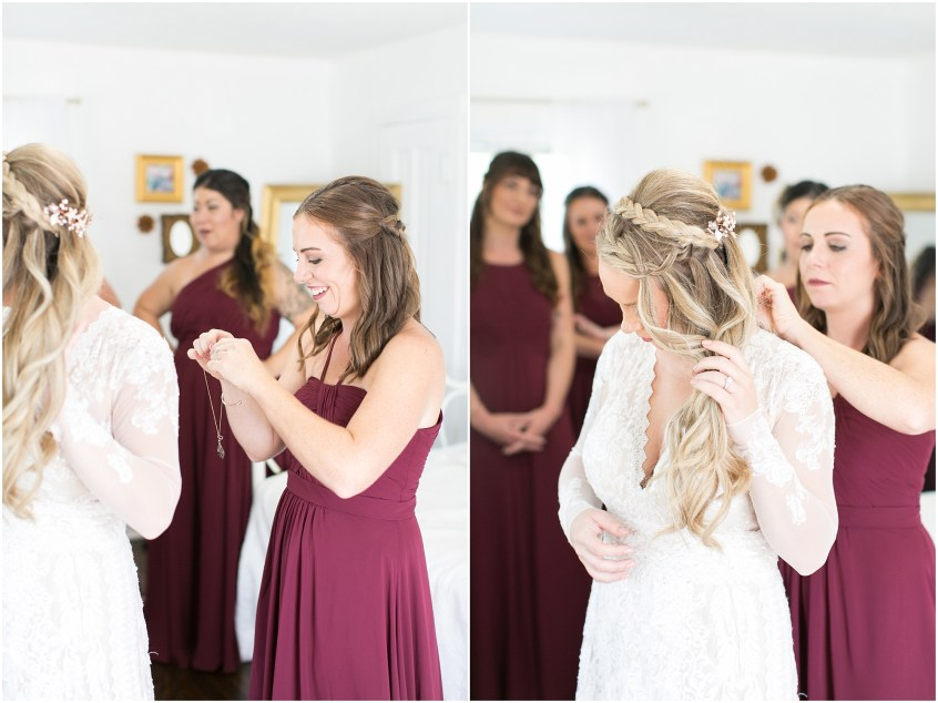boho bride getting ready boho wedding at The Tar Roof virginia beach wedding photography jessica ryan photography