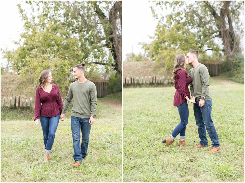 yorktown virginia engagement photography bride and groom candid
