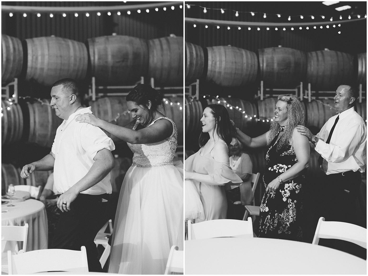 sanctuary vineyards wedding jessica ryan photography, winery wedding reception