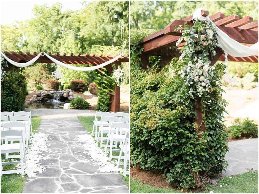 house mountain inn wedding lexington Virginia, wedding ceremony, university florist