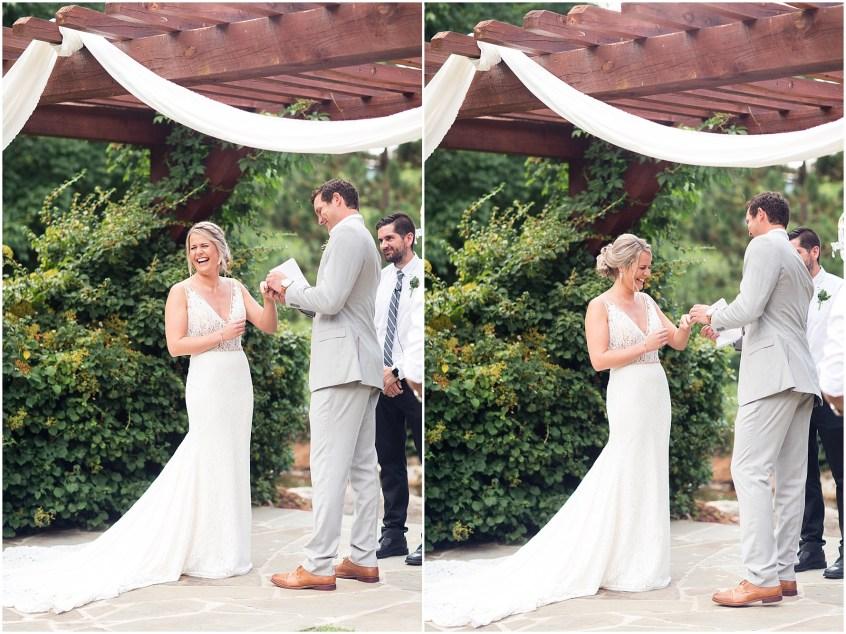 house mountain inn wedding lexington Virginia, wedding ceremony, personal vows