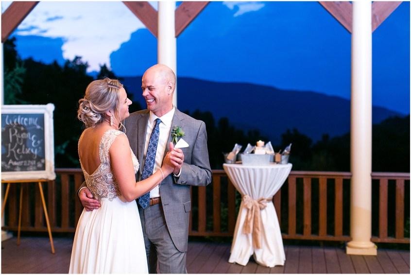 house mountain inn wedding lexington Virginia, wedding reception in the blue ridge mountains, reception dancing