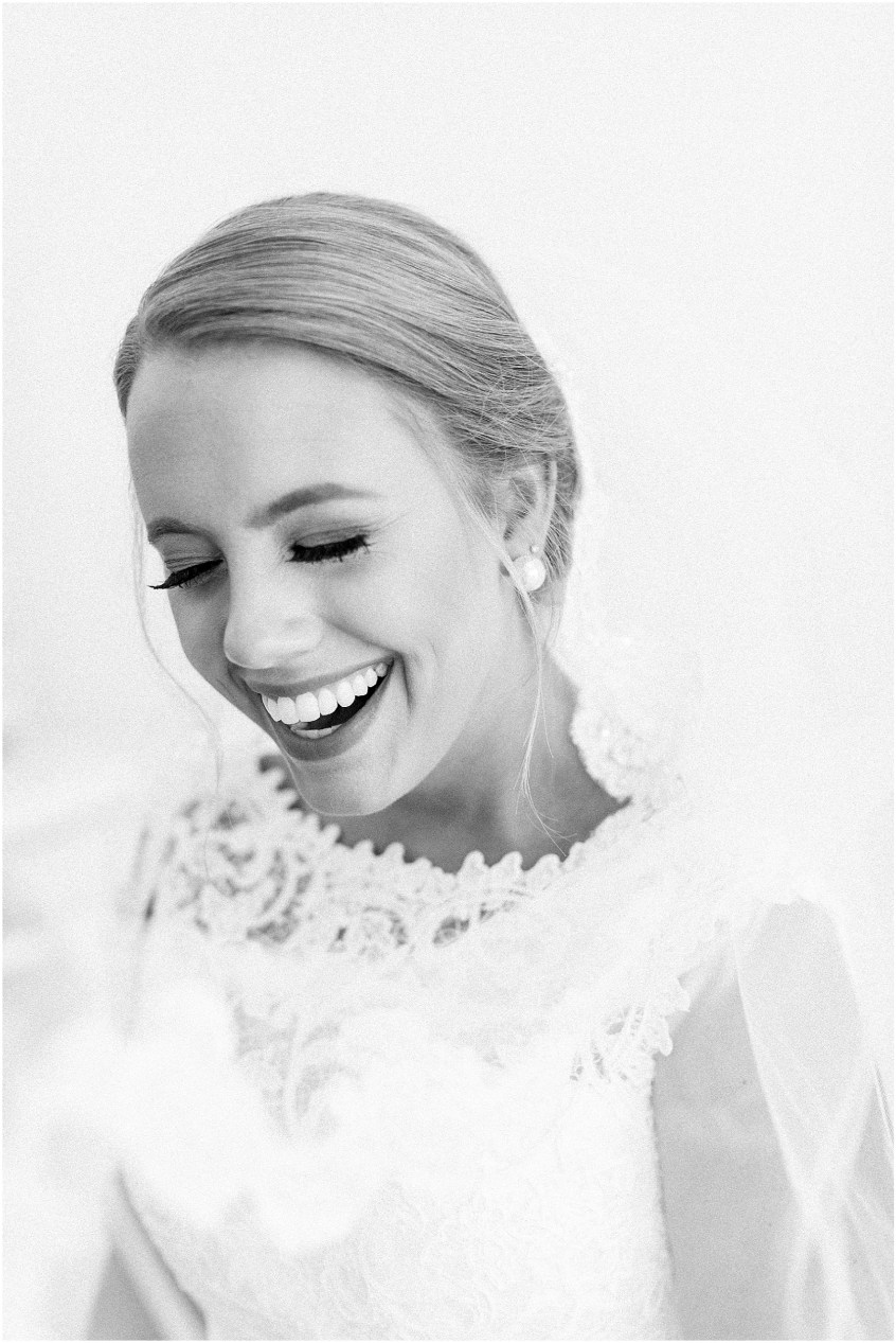 studio at wharf hill bridal portrait, Jessica Ryan photography, genuine bridal moment, candid bride