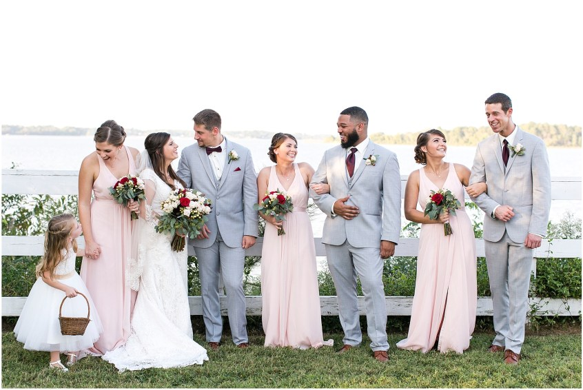 Bridal Party at Planter's Club Wedding, Suffolk Virginia, southern wedding