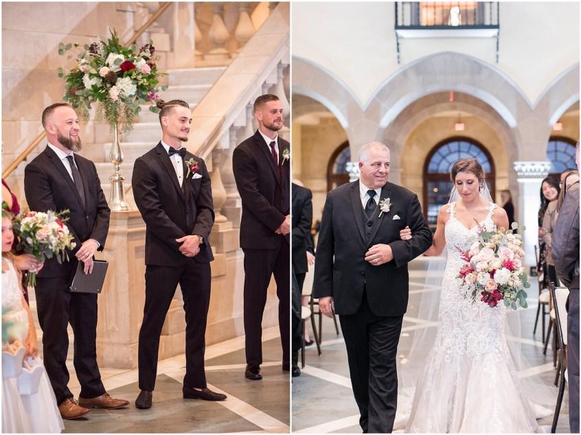 wedding ceremony at chrysler museum wedding, norfolk, virginia, fall wedding