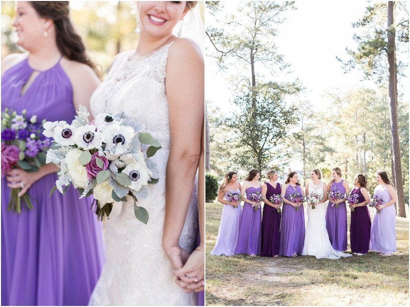 the woman's club of Portsmouth wedding in the fall, bridesmaids