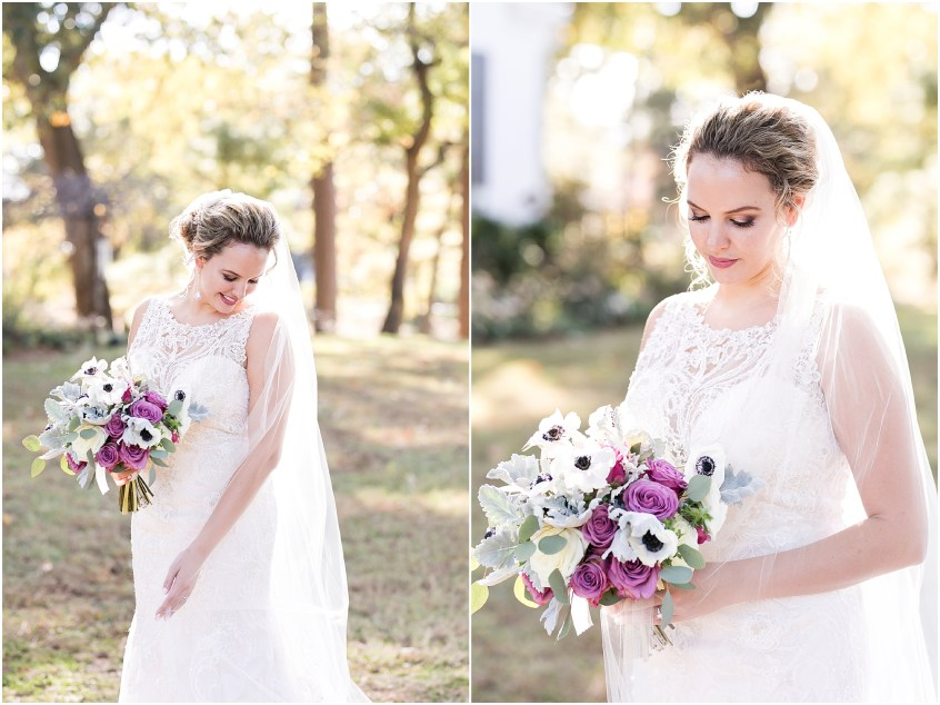 the woman's club of Portsmouth wedding in the fall, bridal portrait, elegant bride, classic bride