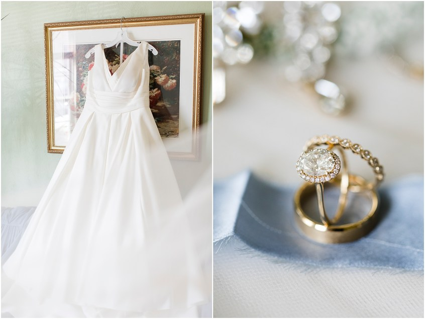 spring wedding at the hermitage museum and gardens, Jessica Ryan photography, classic wedding dress