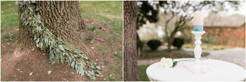 wedding ceremony, spring wedding at the hermitage museum and gardens, Jessica Ryan photography, distinctive event rentals, crafted stems wedding florist