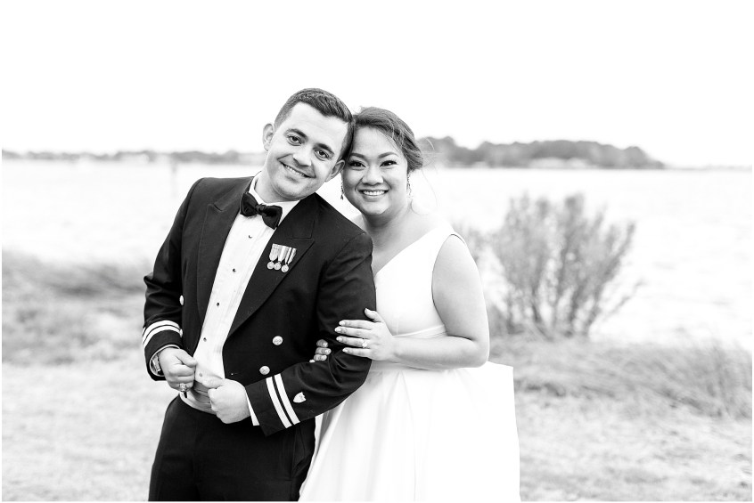 bride and groom sunset portraits, spring wedding at the hermitage museum and gardens, Jessica Ryan photography, sunkissed events, outdoor wedding reception,