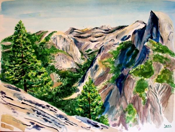 Yosemite Watercolor Painting