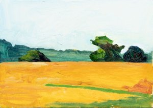 Landscape field painting