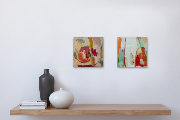 Abstract artwork on wall