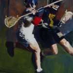 Lacrosse Players painting