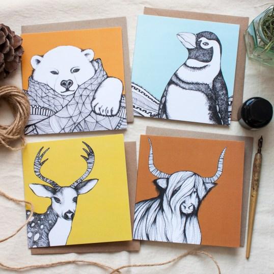Festive Animal Greeting Cards