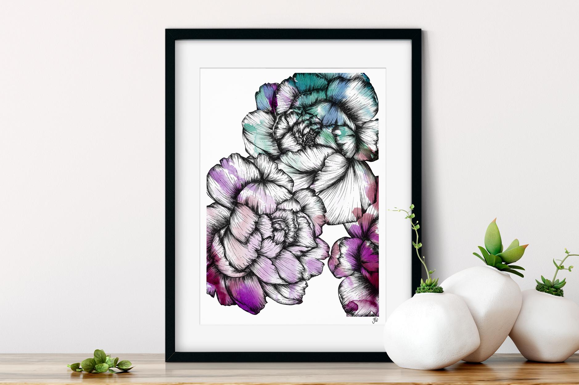 Peony Floral Illustration