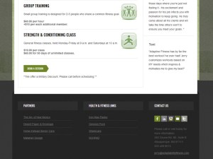 Adaptability Fitness - Web Design