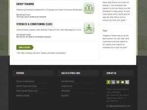 Adaptability Fitness - Web Design