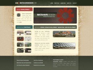 Matahari Design Home Page