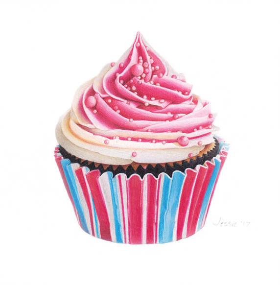 """Pink and Blue cupcake 
