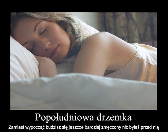 drzemka budzisz się zmęczony spanie jestesmyfajni