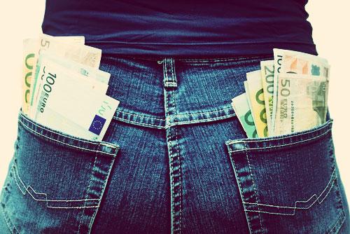 pieniądze w kieszeni euro bieg raz 25h
