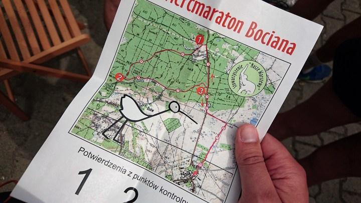 ćwierćmaraton bociana 2016 mapka