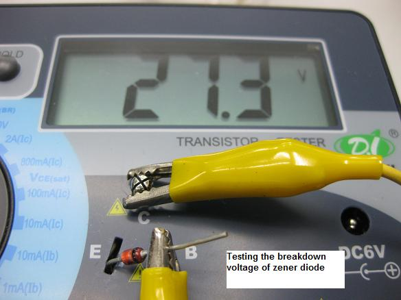 Zener Diode Tester With 555 Timer