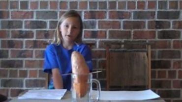 Ta dziewczynka zrobiła ziemniaczany eksperyment, który zmienia sposób myślenia o jedzeniu!