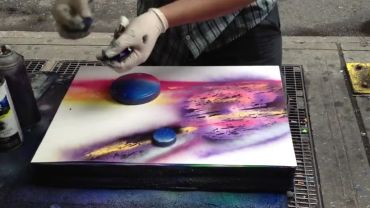 To niesamowite, co ten artysta robi sprayem...