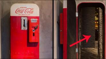 Za tymi drzwiami do automatu Coca-Coli kryje się coś naprawdę niezwykłego. Takie cuda tylko w Szanghaju!