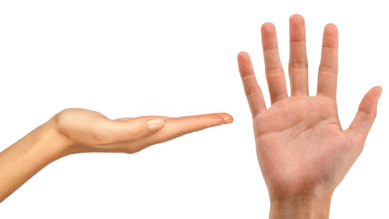 2 dłonie