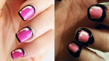Chciały, by ich paznokcie wyglądały tak jak na obrazku. Padniesz ze śmiechu, gdy zobaczysz, co faktycznie powstało!