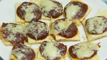 Mini pizza kwadraciki szybka przekąska na każdą okazję!
