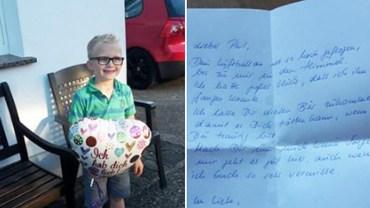 Przyczepił do balonu wiadomość dla zmarłego dziadka i wysłał ją do nieba. Jakie było zdziwienie wszystkich, gdy niespodziewanie otrzymał odpowiedź