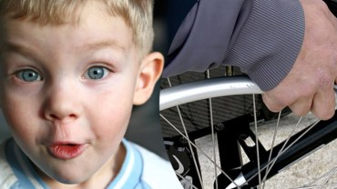 6-latek przyglądnął się mężczyźnie na wózku i jako jedyny zauważył, coś, o czym nikt nie pomyślał
