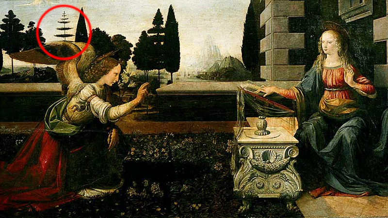 The first painting by Leonardo da Vinci has a secret! Only a few people noticed this strange tree and realized what it really is 3