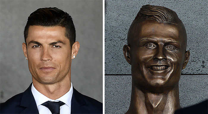 The bust of Cristiano Ronaldo, revealed in Madeira, immediately became the butt of jokes. Here are some of the best ones circulating the web 3