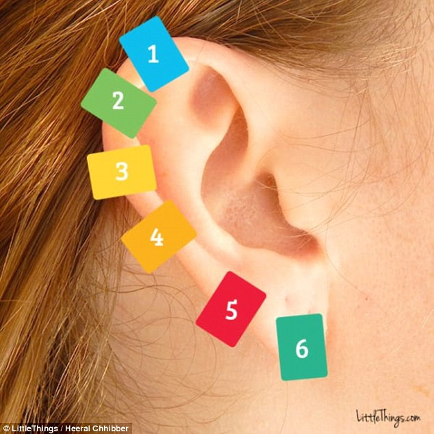 She clipped a clothespin on her ear. She couldn't believe that this method has such an effect after a few days! 3